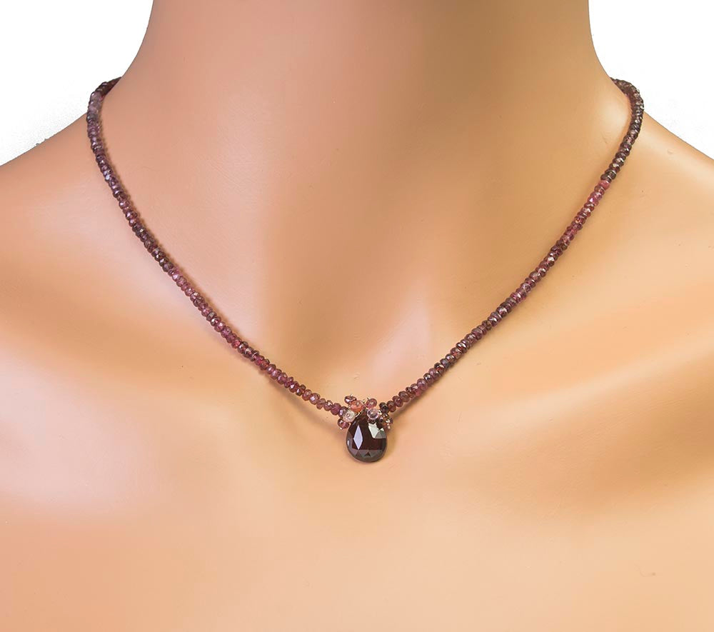Garnet and Spinel Handmade Necklace by Kristin Ford