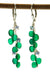 Green Onyx and Tanzanite Long Kristin Ford Earrings