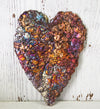 Loving Heart Copper Art Sculpture