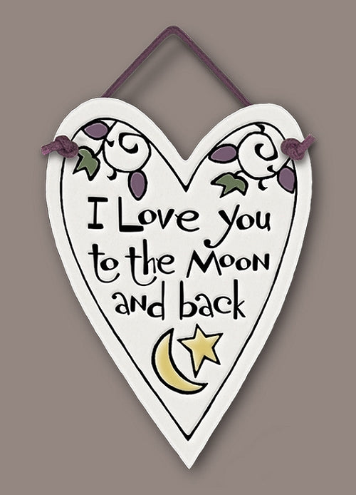 I Love You to the Moon... Heart Wall Plaque