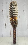 Tangerine Quartz Heritage Turkey Lakota Sioux Prayer Fan