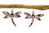 Inlay Sugilite Dragonfly Earrings Sterling Silver