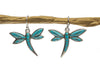 Inlay Turquoise Dragonfly Earrings Sterling Silver