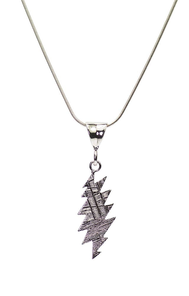 Lightning Cut Crystallized Iron Meteorite (Muonionalusta, Sweden) Pendant
