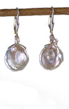 Keishi Pearl and Moonstone Earrings