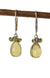 Lemon Topaz, Labradorite and Vesuvianite Handmade Gemstone Earrings by Kristin Ford