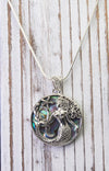 Sterling Silver Mermaid with Abalone Necklace
