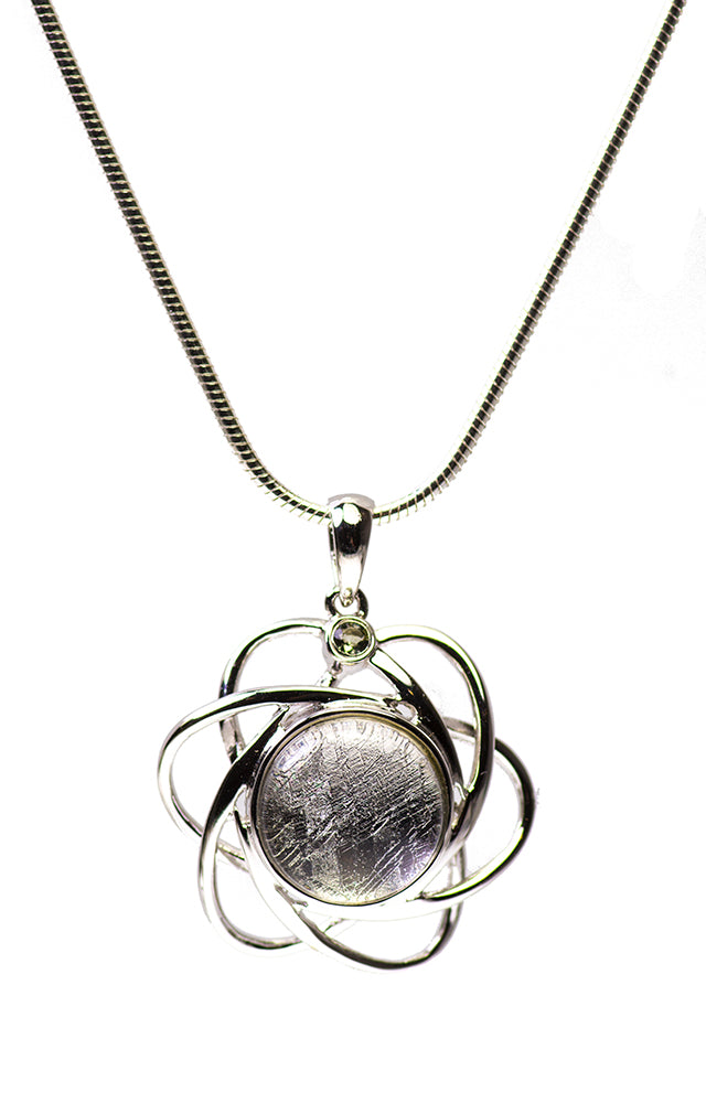 Crystallized Iron Meteorite Galaxy/Atom Pendant