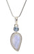 Rainbow Moonstone and Blue Topaz Pendant in Sterling Silver