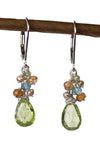 Kristin Ford Handmade Peridot Citrine Earrings Sterling Silver