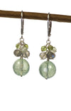 Prehnite, Labradorite and Peridot Handmade Gemstone Earrings by Kristin Ford