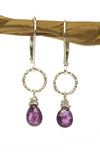 Handmade Purple Sapphire Kristin Ford Earrings