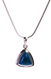 Triangular Shattuckite Pendant in Sterling Silver