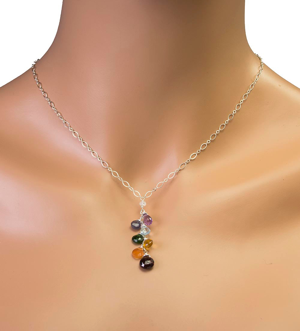 Chakra Gemstone Handmade USA Kristin Ford Sterling Silver Necklace