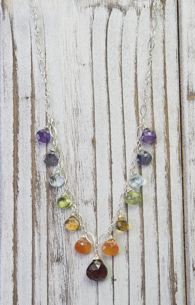 Handcrafted Gemstone Chakra Jewelry Necklace by Kristin Ford
