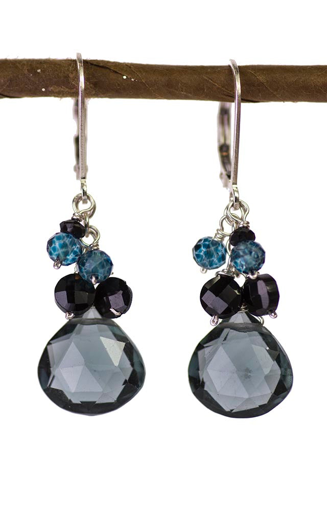 Slate Blue Quartz Kristin Ford Earrings