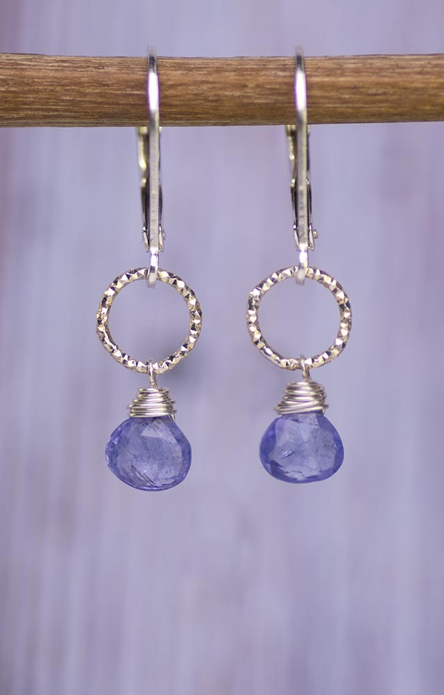 Handmade Tanzanite Kristin Ford Earrings