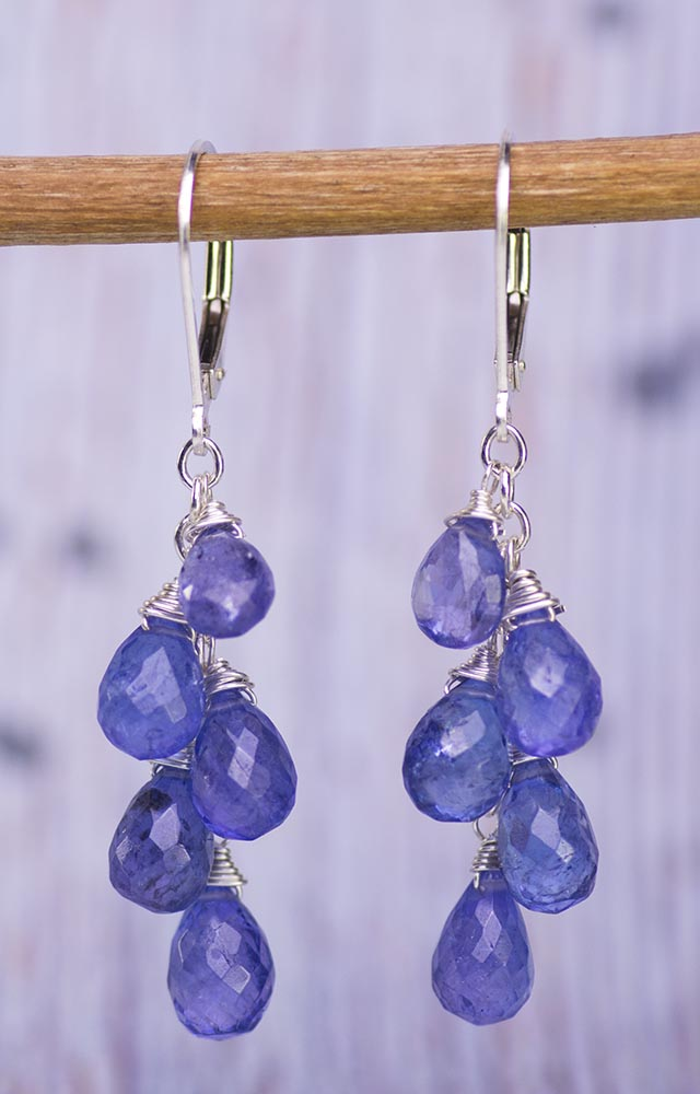 Tanzanite Waterfall Handmade Kristin Ford Earrings