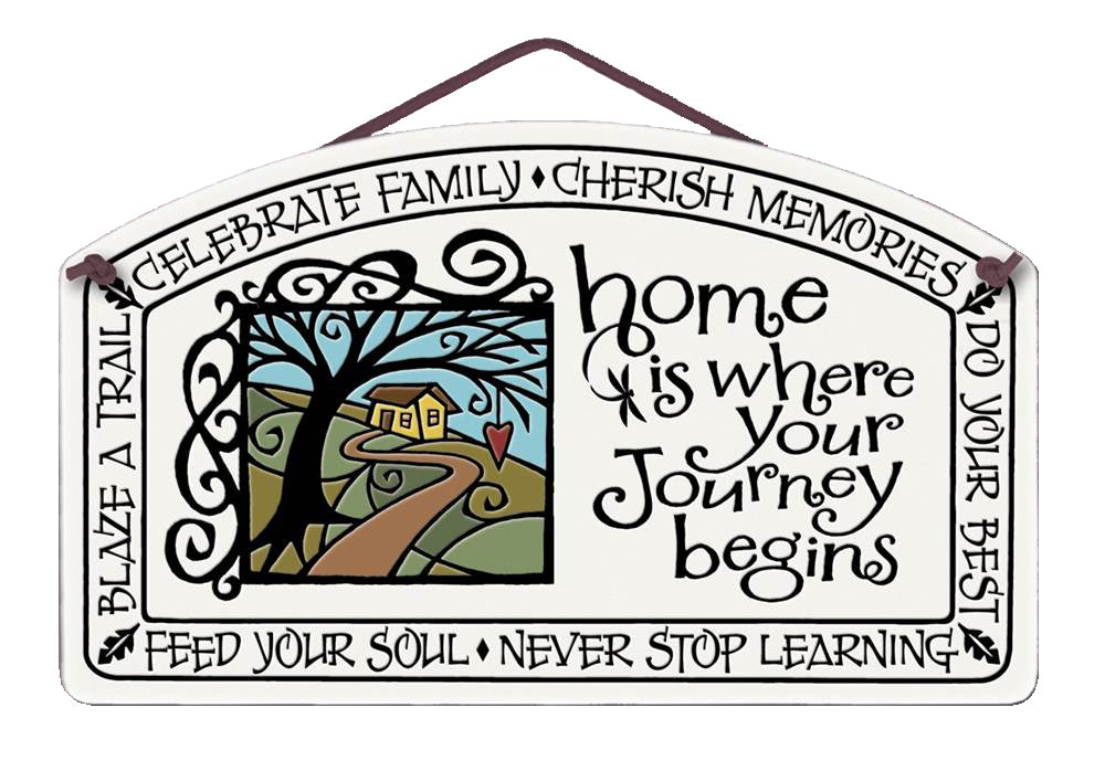 Home is Where Your Journey Begins Wall Plaque