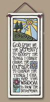 Serenity Prayer Gifts Wall Plaque Made in USA