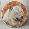 Handmade White Wolf Totem Animal Spirit Drum 15 Inch