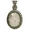 Serenity Prayer Virgin of Guadalupe Moldavite Pendant