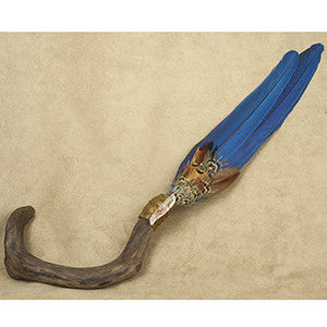 Lakota Sioux Driftwood Macaw Prayer Fan