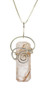 Sterling Silver Rutilated Quartz Pendant Necklace | Whisperingtree.net