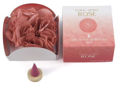 Rose Cone Floral World Japanese Incense
