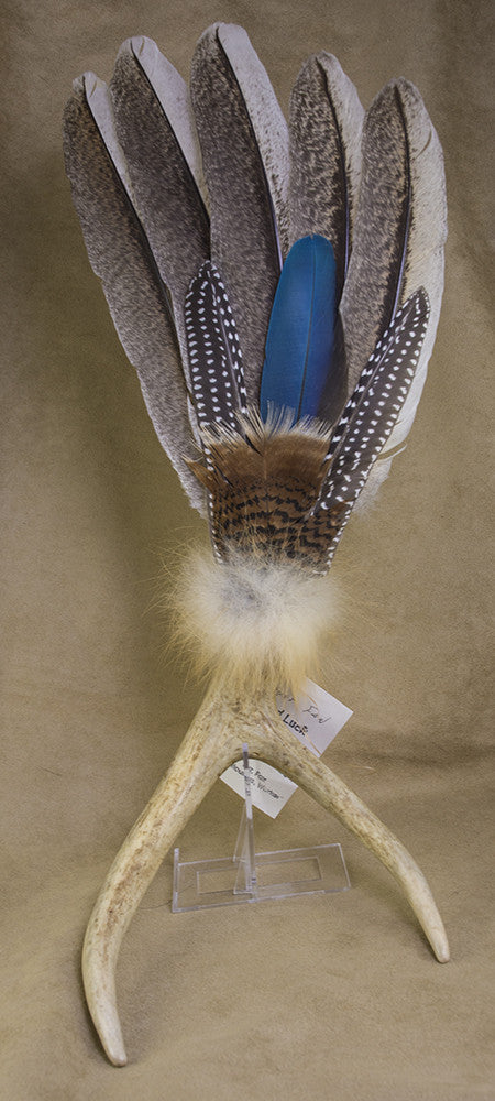Pueblo Picuris Native Antler Prayer Fan