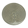Cretan Pewter Meditation Labyrinth Right Entry