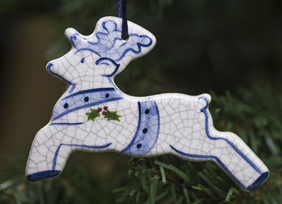 Reindeer Hanging Ceramic Ornament
