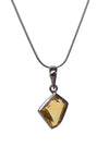 Natural Citrine Pendant Necklace in Sterling Silver | Whisperingtree.net