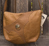 Handmade Leather Picture Jasper Touchstone Big Pocket Bag
