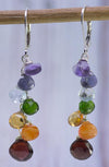 Chakra Gemstones Silver Handmade USA Kristin Ford Sterling Silver Earrings