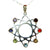 Eight Pointed Star Sterling Silver Chakra Pendant