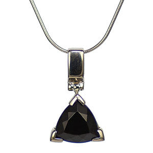 Indochinite Tektite Simple Triangle Pendant