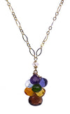 Handcrafted Gemstone Gold Chakra Jewelry Necklace