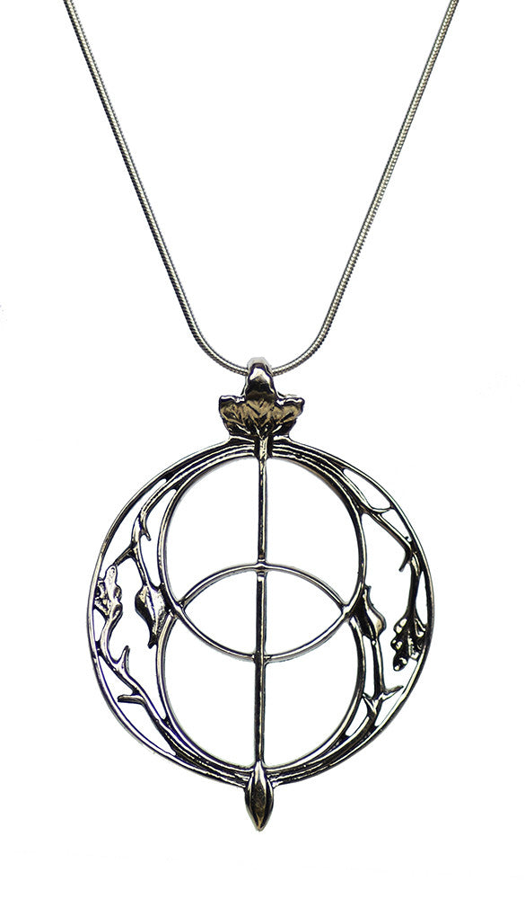 Chalice Well Vesica Pisces Symbol Sterling Silver Pendant Necklace | Whisperingtree.net