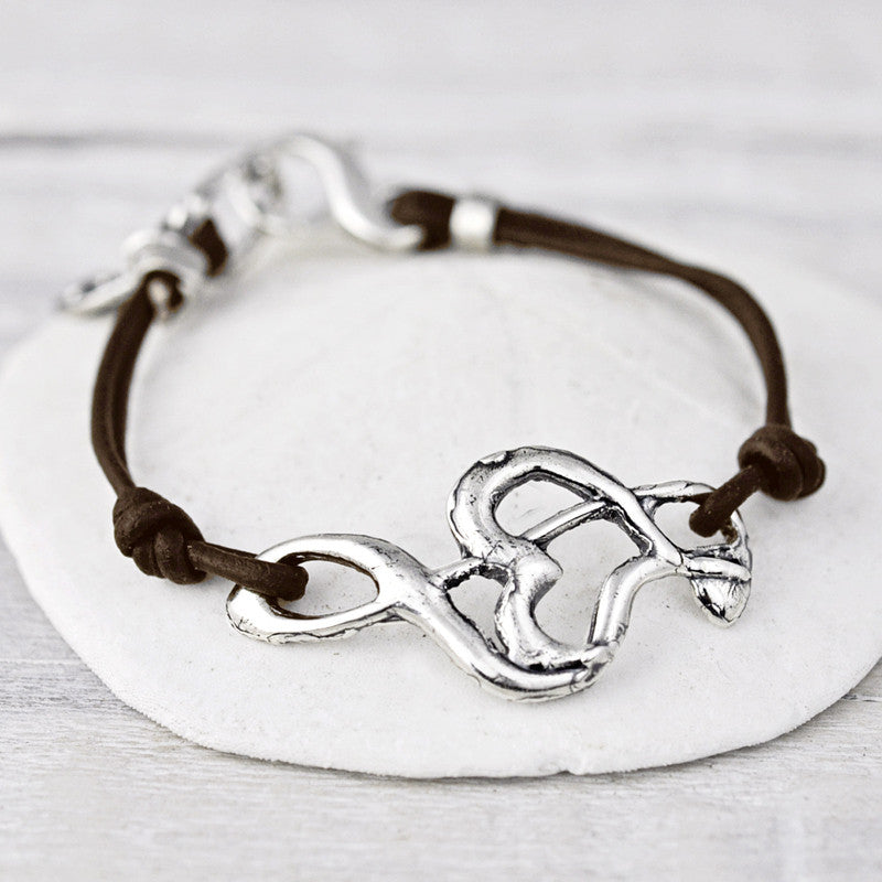 Music in Your Heart Bracelet with Leather