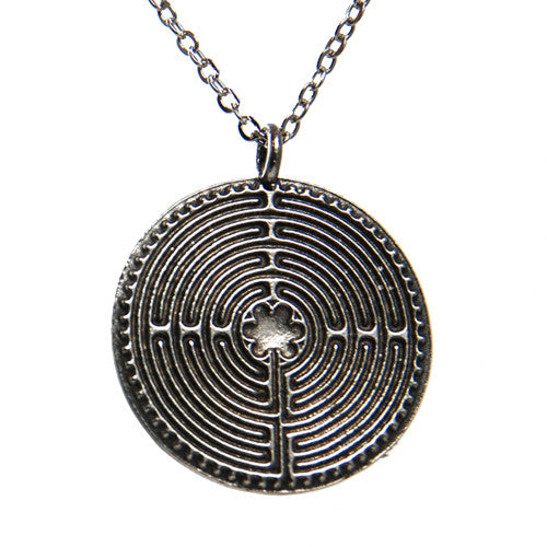 Chartres Meditation Labyrinth Pendant in Pewter | Whisperingtree.net