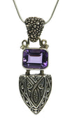 Sterling Silver Amethyst Shield Pendant | Whisperingtree.net