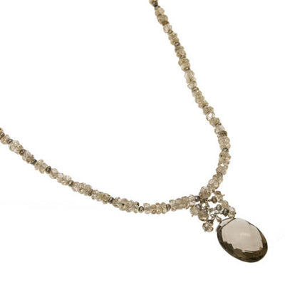 Smoky Quartz and Natural Zircon Necklace by Kristin Ford Jewelry with Meaning | Whisperingtree.net