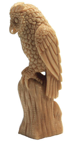 Great Horned Owl Guardian Totem Spirit Carving