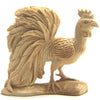 Elegant Rooster Carved in Fossil Mammoth Ivory