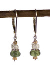 Green Apatite and Green Garnet Kristin Ford Earrings