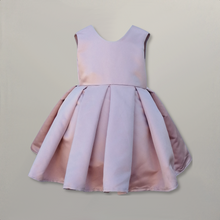Pink tulle and lace girls dress