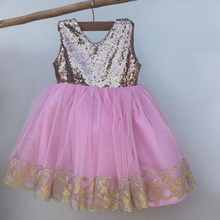 Soft pink flower girl dress
