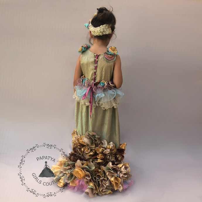 Haute couture, custom mermaid gown, Run way costume, Mermaid flower girl dress, Mermaid pageant dress, PapatyaGirlsCouture