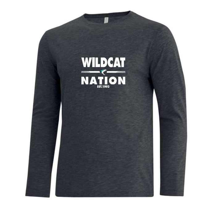 Vancouver Minor Softball Tee Long Sleeve - Wildcat Nation - Adult